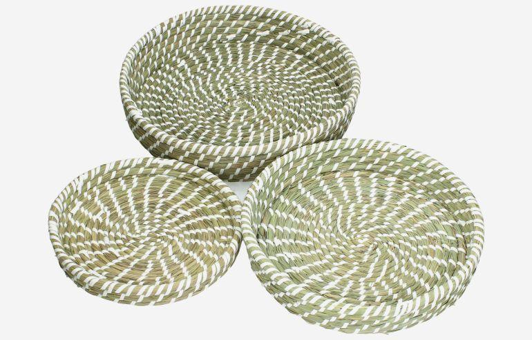 Set de 3 cestas Nature marrón